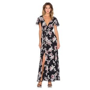 NEW Jetset Diaries Rosa Floral Maxi Dress Black